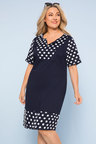 Plus Size - Sara Cotton Trim Dress