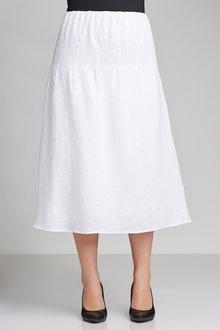 Plus Size - Sara Linen A-Line Skirt
