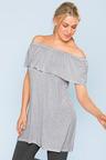 Plus Size - Sara Cold Shoulder Tunic