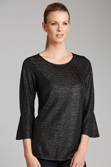 Capture Flute Sleeve Shimmer Top - 183156