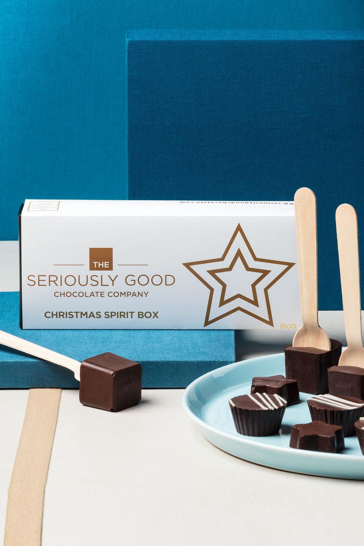 Seriously Good Christmas Spirit Chocolate 10 Piece Box