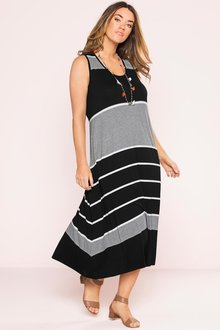 Plus Size - Sara Sleeveless Knit Dress