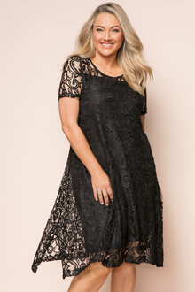 Plus Size - Sara Stretch Lace Dress