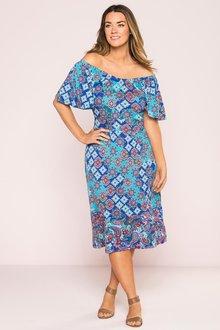 Plus Size - Sara Ruffle Sleeve Knit Dress