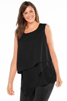 Plus Size - Sara Layer Asymmetrical Tunic