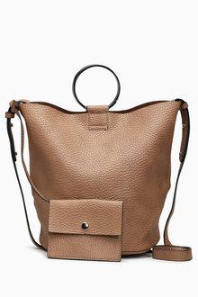 Next Ring Detail Bucket Bag