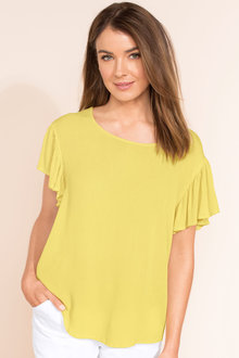 Capture Flutter Sleeve Top - 183318