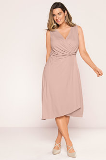 Plus Size - Sara Drape Wrap Dress