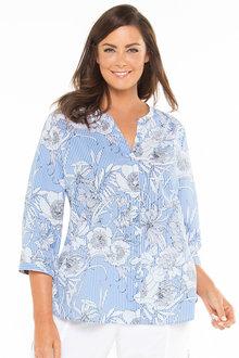 Plus Size - Sara Cotton Voile Shirt - 183372