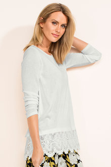 Capture Lace Trim Knit