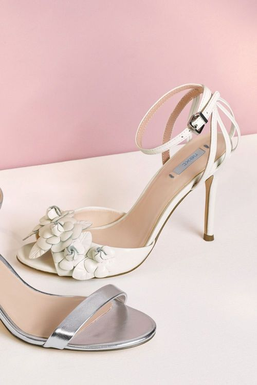 Next Leather Flower Bridal Sandals