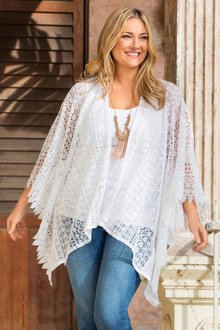 Plus Size - Sara Lace Duster Jacket