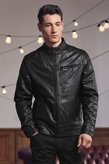 Next Leather Racer Jacket