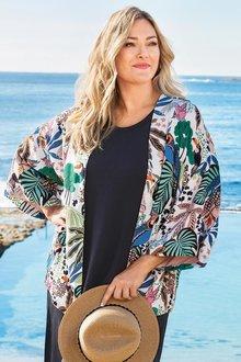 Plus Size - Sara Lined Kimono