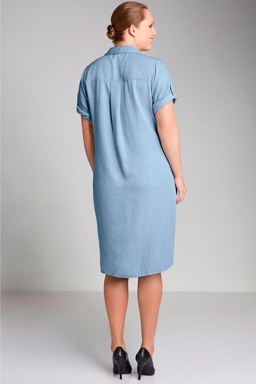 Plus Size - Sara Lyocell Shirt Dress