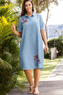 Plus Size - Sara Lyocell Shirt Dress
