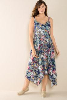 Plus Size - Sara Shirred Back Maxi Dress