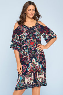 Plus Size - Sara Cold Shoulder Dress