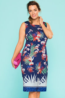 Plus Size - Sara Cotton Sateen Shift Dress