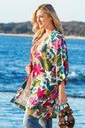 Plus Size - Sara Longline Lined Kimono