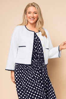Plus Size - Sara Collarless Jacket