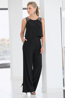 European Collection Sequin Detail Jumpsuit