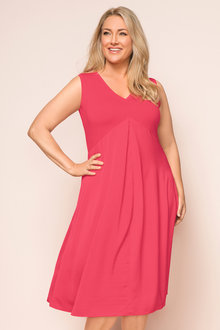 Plus Size - Sara Fit n Flare Combo Dress