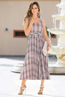 Together Printed Midi Dress