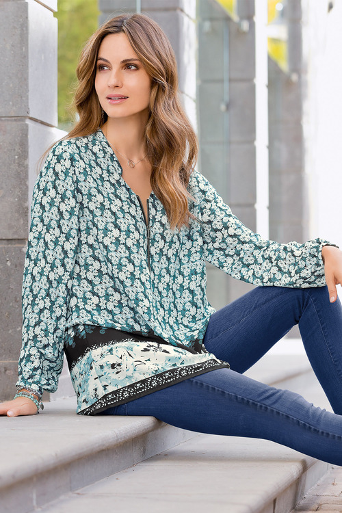 Together Zip Front Blouse