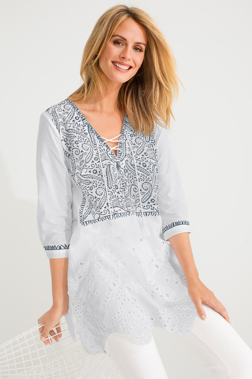Capture Embroidered Tunic