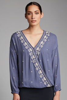 Capture Crossover Embroidered Top - 183839