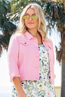 Plus Size - Sara Crop Denim Jacket