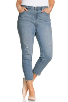 Plus Size - Sara Distressed 7/8 Jean
