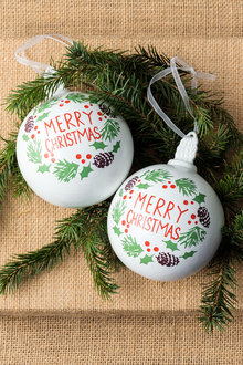 Merry Christmas Decorations Set of 2