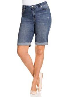 Plus Size - Sara So Slimming Girlfriend Shorts