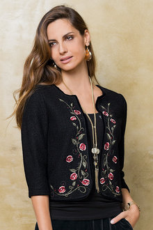 Together Wool Blend Jacket with Embroidery