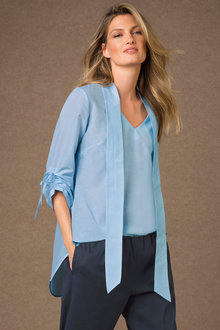 Grace Hill Tie Neck Shirt - 183897