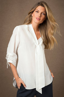 Grace Hill Tie Neck Shirt