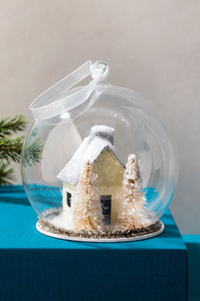 Glass House Ornament