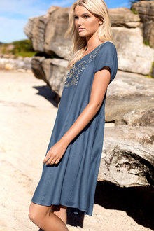 Emerge Embroidered Swing Dress
