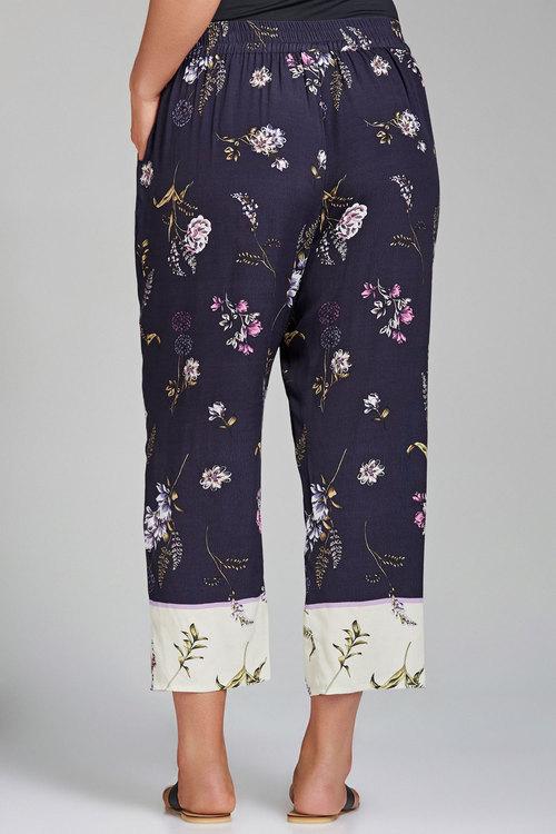 Plus Size - Sara Woven Crop Jogger Pant