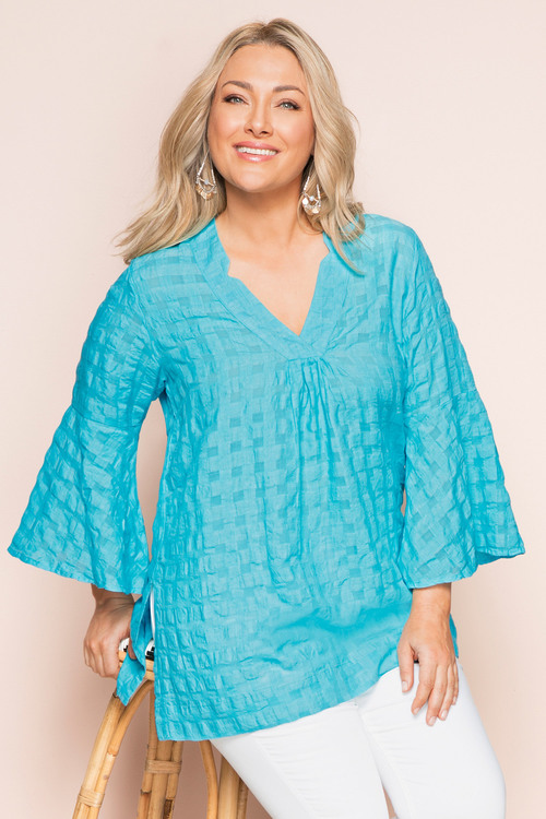 Sara Textured Cotton Tunic