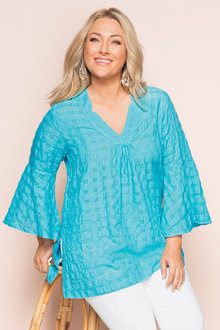 Plus Size - Sara Textured Cotton Tunic