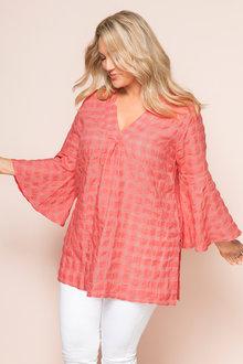 Plus Size - Sara Textured Cotton Tunic