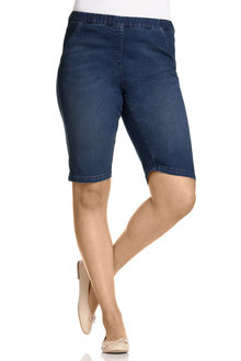 Plus Size - Sara So Slimming Denim Pull On Short