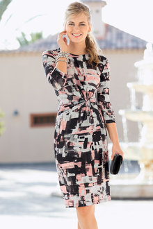 Together Printed Knot Dress