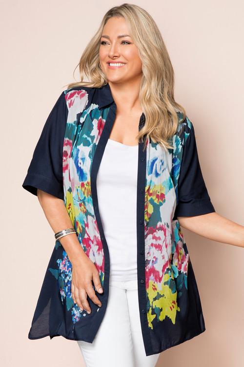 Plus Size - Sara Relaxed Longline Shirt