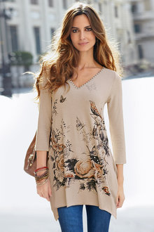 Together Placement Print Tunic