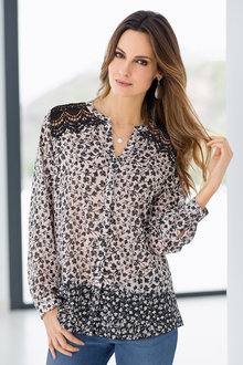 Together Border Print Blouse