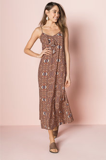 Emerge Ruffle Neck Maxi